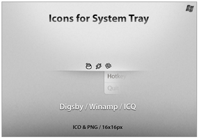 Icons For System Tray 3 by ncrow
