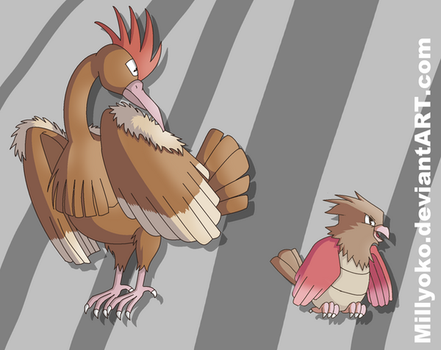 Spearow and Fearow by Millyoko
