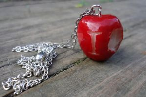 IOU Apple Necklace by geeekalicious