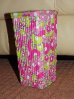 Decoupage Clay Vase Thing by kizgoth