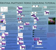Horse Colouring Tutorial by Abiadura