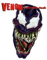 Venom 2 Part Mask by mannycartoon