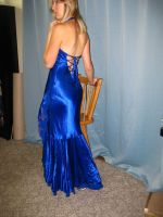 Elegant Blue Dress 19 by Danika-Stock