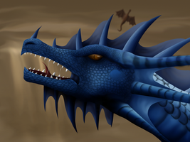 Blue Dragon by phoenixfyre6967