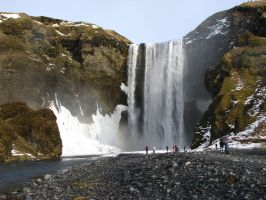 Skogafoss waterfall 3 by Topaz172