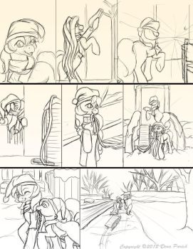 Chapter 11 page 8 sketches by FlyingPony