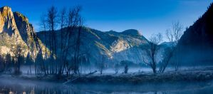 Yosemite Valley at Dawn by pixelthecat