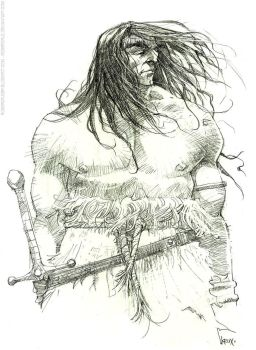 Conan pencils by rogercruz