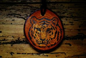 Tiger pendant by sleepyhamsteri