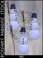 Snowman 018 by poserfan-stock