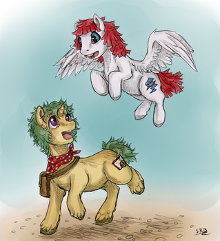 Jolt and Willow by LadyVentuswill