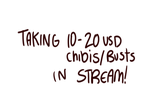 STREAM 10 to 20 usd chibi and bust open by temporaryWizard