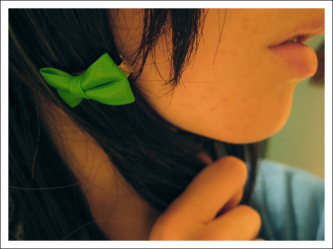 Green bow 2 by Panique