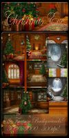 Christmas Eve backgrounds by moonchild-ljilja