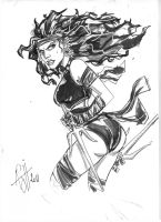 Elektra sketch by scarecrowhassan