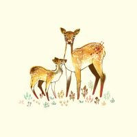 The Fawn and Doe by teaganwhite