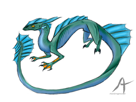 Water Dragon by AlienDragonLover