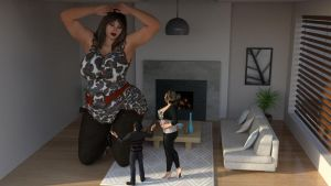 Giantess Mother talk with her children 2 by Big-ELSA