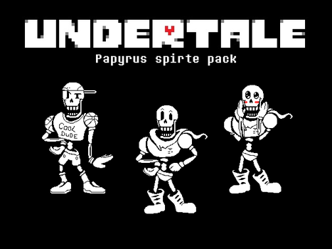 Undertale 'Papyrus' 2x res sprite pack by imkuut