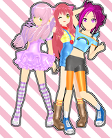 MMD RxNxD Cutie Mark Crusaders 2.0 by RinXNeruXD