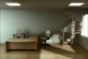 Office interior by Cubiclegangster