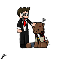 Human Jerome petting Bacca Mitch by SweetLuvs1D
