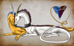 A dragons love by Lucie-P