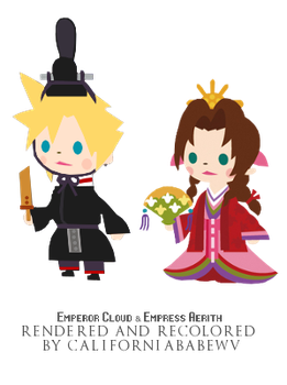 FF7's Royal Couple! Official Brigade DLC renders by CaliforniaBabeWV
