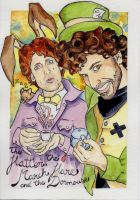 The Hatter and the March Hare by irethlasombra