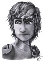How To Train Your Dragon 2- Hiccup Pencil Drawing by Jade-Viper