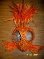 Goldfish wearable art mask by JenniferDuBrayArt