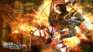 Levi Attack on Titan Wallpaper by skeptec