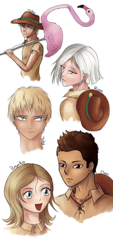 [RPG] Character doodles by CCDragon-93