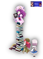 Patchouli  loves read by AlexisSuzumiya