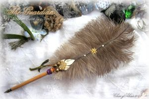 BUTTERFLY Feather Quill Pen by ChaeyAhne