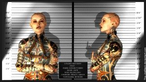 Mass Effect Mugshot - Jack / Subject Zero by ShaunsArtHouse