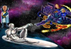 Creation of the Silver Surfer by luismhernandez