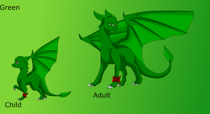 Green Child and Adult form by HeroHeart001