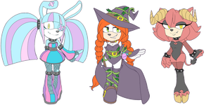 Halloween Adoptables CLOSED by AdoptSonicCharacter