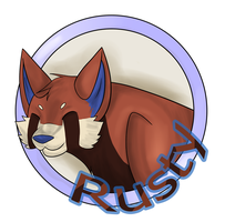 Collab Badge - Rusty by MasterDoggeh