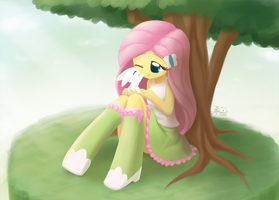 Weekly art#36 sitting in a tree by HowXu