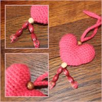 Crochet: Pink heart by Engelina-c