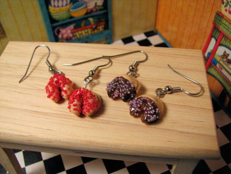 Fortune Cookie Dangle Earrings by Miss-Millificent