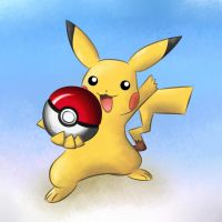 Pikachu and Pokeball by AndyCarolan