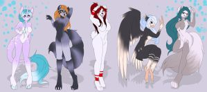 Adopt an anthro Ocs ! by Fur-What-Loo