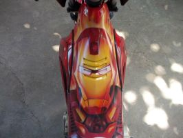 iron man mask airbrush / raider top view by supermacoy