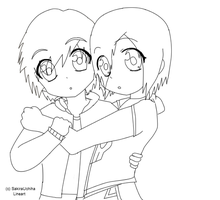 Boy and Girl :Lineart: by SakiraUchiha