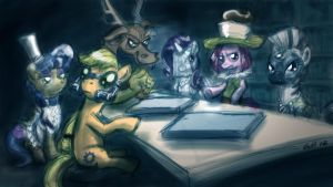 Evil League of Evil ponies by GiantMosquito
