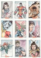 Xmen Archives Sketchcards 1 by Csyeung