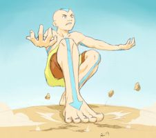 Earth bending stance by Socij